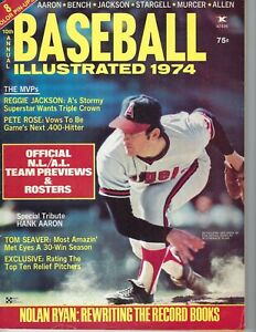 1974 Baseball Illustrated magazine Nolan Ryan, California Angels Pete Rose GOOD