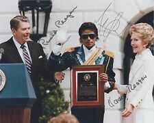 President Ronald Reagan (1984)  Michael Jackson & Nancy RARE SIGNED RP 8x10 WOW!
