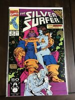 The Silver Surfer #56 Infinity Gauntlet Crossover Thanos Marvel Comics 1991 VF