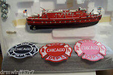 """Code 3 - Chicago Fire - Fireboat-58  """"Victor Schlaeg"""", IL  + free fire patches"""