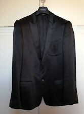 Giacca uomo nera DOLCE   GABBANA seta silk 52 lucida elegante jacket D G DG de399ff154d