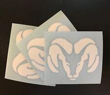 """3 X RAM Vinyl Decal Sticker , 3"""" Wide. DIE CUT White"""