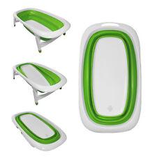 Baby Bath Time Foldable Splash & Play Green Transportable BathTub