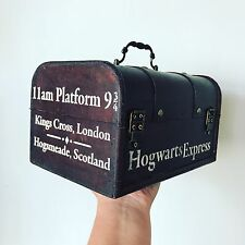 Harry Potter Hogwarts Express Platform 9 3/4 Wooden Vintage Trunk