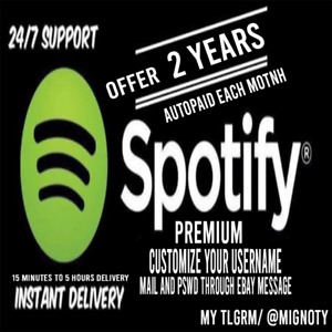 Spotify🎵Premium 2 years🎵No Limits🎵