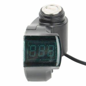 Throttle Voltmeter with Digital Voltage Display Lock for 12-99V E-Bike Scooter❤T