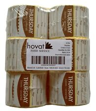 Food Day Label, Removable adhesive, 51mm Square. (Thursday) 6 rolls of 500