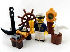 """NEW LEGO """"SALTY SEA CAPTAIN"""" MINIFIG LOT seagull sailor figure minifigure pirate"""