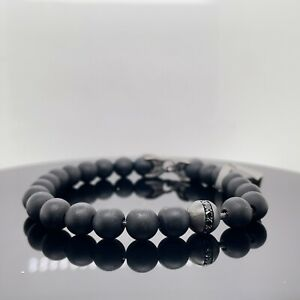 David Yurman Spiritual Beads Bracelet With Black Onyx & Black Diamond New $725