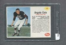 1962 Post #110 Angelo Coia (Bears) (RK)  Vg-Ex  (Flat Rate Ship)
