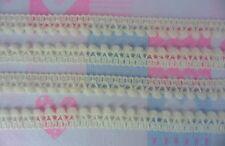 Light Cream Mini Pompom Fringe Baby Trim Small Bobble Ball Puff Woven Embroidery