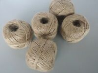 Natural jute fine 2 ply string twine crafts gift wrapping Garden craft cord