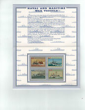 1993  Naval and Maritime War Vessels, Set of 4     Post Office Pack
