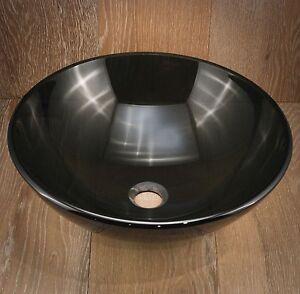 Bathroom Glass Vessel Basin Sink Vanity Bowl New Black