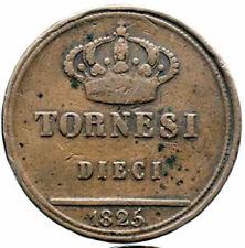 10 tornesi 1825 - Regno delle due Sicilie : Francesco I di Borbone
