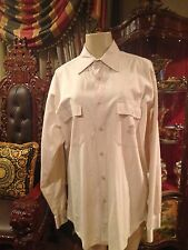 VINTAGE VERSACE SPORT MENS KHAKI BEIGE MEDUSA SHIRT SZ 50 MADE IN ITALY