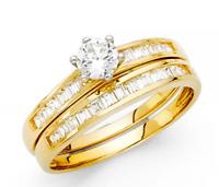 2mm 14k Yellow Gold 0.75 Ct Diamond Princess Cut Channel Set Ring Wedding Band