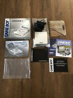 Pearl White AGS-001 Nintendo Game Boy Advance SP W/ Charger, Box & Manual Etc