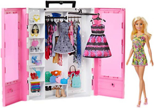 Barbie Fashionistas Ultimate Closet Playset Portable with a Doll 15+ Accessories