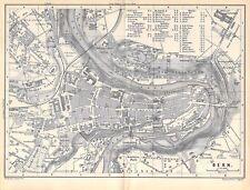 Bern Schweiz um 1897 historische alte Landkarte Stadtplan map