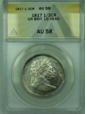 1817 Great Britian 1/2 Crown Silver ANACS AU-58