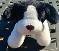 "Mary Meyer Black White Pesky Pup Puppy Dog 7"" Stuffed Animal Plush"