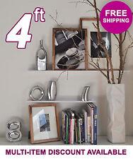 48in ultraLEDGE White Metal Floating Shelf, Picture Ledge, Photo & Art Display
