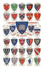 uk39693 oxford university real photo uk lot 23 uk coats of arms heraldic