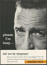 WESTERN UNION - Tell me by telegram - 1960 Vintage Print Ad