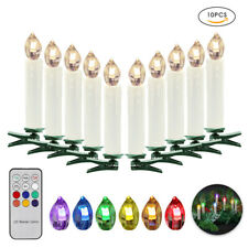 10PC LED Candle Shape Lights Remote Control Christmas Tree Light Xmas Decoration