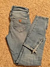 Guess jeans size 25 skinny Ankle zipper