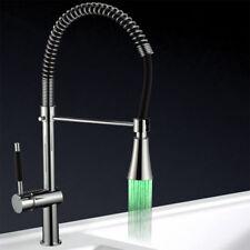LED Küchenarmatur | Spiralhals | Wasserarmatur | Wasserhahn | Spültischarmatur