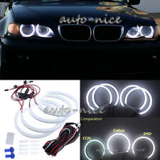 4x131mm Car Cotton LED Angel Eye Halo Rings Kit For BMW E36 E38 E39 E46 M5 White