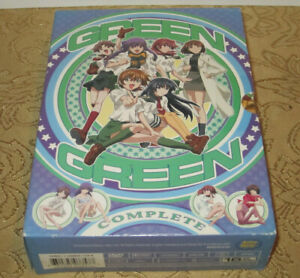 GREEN GREEN: Episodes 1-12 Anime, COMPLETE 3-DVD Set in Box Mint Discs Rare