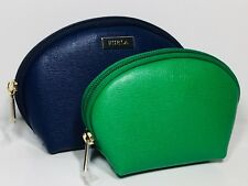 Furla Classic Leather Cosmetic Pouches - Set of 2
