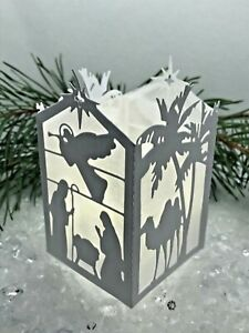 Make Nativity Scene Christmas Lanterns from Die Cuts - Choose your Kit Card