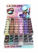 ( 12 COLORS FULL SET ) LA  COLORS ICED PIGMENT METALLIC LOOSE POWDER EYESHADOW