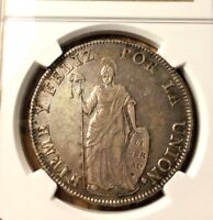 1832 Cuzco Peru 8 reales NGC XF 45 not Lima BEAUTIFUL Toning silver republic
