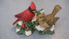 "Homco ""Male And Female Cardinals "" 35307"