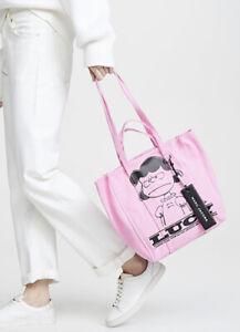 Marc Jacobs X Peanuts Lucy Pink Mini Tag Tote Bag $275
