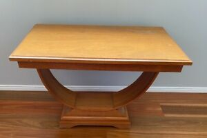 Art Deco Style U Table - Oak - Coffee or side table