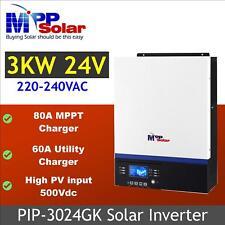 (GK) 3kva 3000w solar inverter 24v 230vac + 80A MPPT solar charger high PV 500v