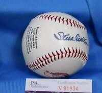 STEVE CARLTON JSA COA Signed Phillies BasebaLL Autograph Authentic