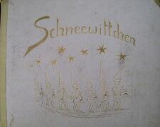 Schneewittchen Ziehbilderbuch Hilde Langen 1947 RAR Dichtung M. Strachwitz