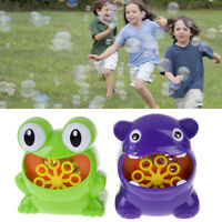 Frog automatic bubble machine blower maker party outdoor toy for kids WGJCAU