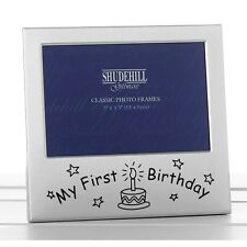 'My First Birthday' Satin silver photo frame-shudehill Giftware