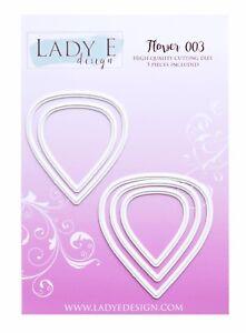 Lady E Design Flower 003 Cutting Die Set, for Paper, Foam and Foamiran