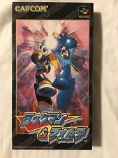 Rockman and Forte Megaman Super Famicom Nintendo CompleteUS Seller Japanese ver
