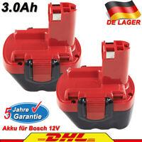 2X 3,0Ah Akku Für Bosch PSR 12VE-2 PSR 12VE PSB 12 VE-2 GSR 12-1 GSR 12-2 BAT043