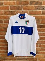 ITALY NATIONAL TEAM 1998/1999/2000 AWAY FOOTBALL SHIRT JERSEY KAPPA SIZE L ADULT